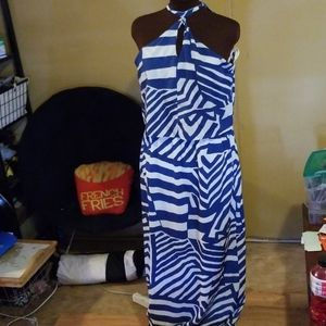Joy Joy Blue Striped Dress